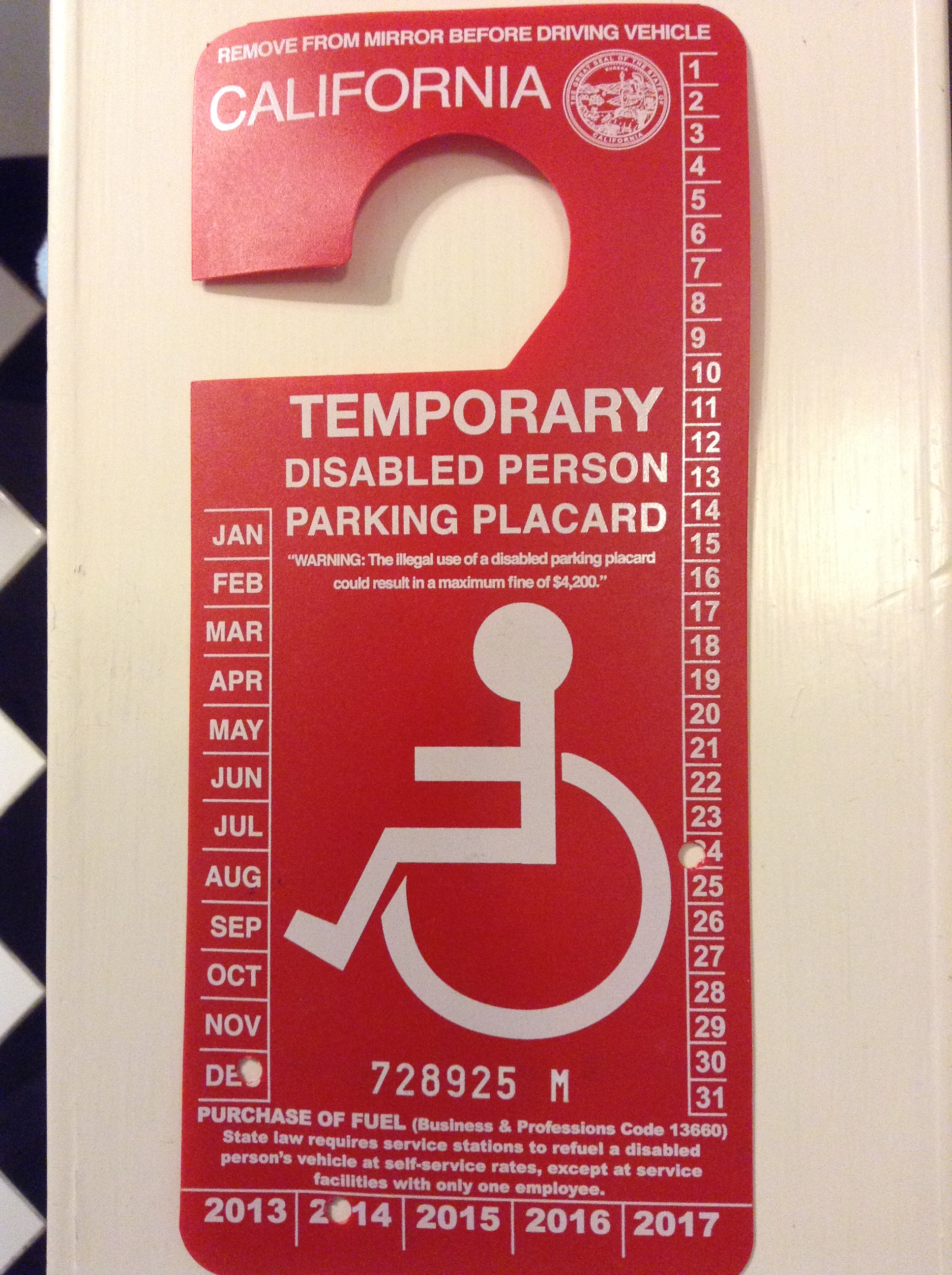 How To Get Temporary Disabled Car Placard